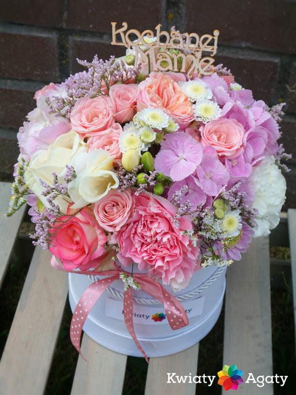 Kwiaty w pudełku Dzień Matki